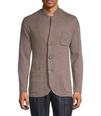 brunello cucinelli men's button-front cashmere cardigan - light beige - size 50 (38)