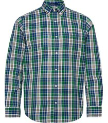 d1. windblown oxford check reg bd skjorta casual grön gant