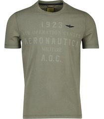 aeronautica militare t-shirt olijfgroen