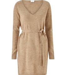 klänning visuril l/s v-neck short knit dress
