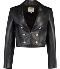 black inez crop blazer