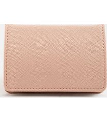 katy covered metal card case - blush
