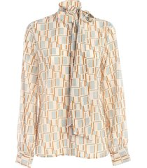 blouse printed stretch