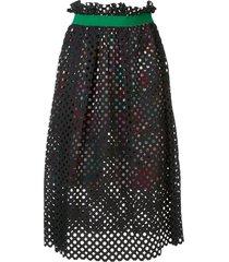 kolor mesh layered skirt - black