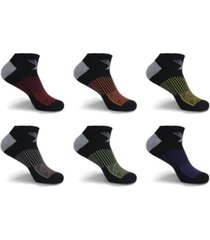 men's and women's active-performance ankle-length compression socks - 6 pairs