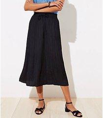 loft crinkle drawstring midi skirt