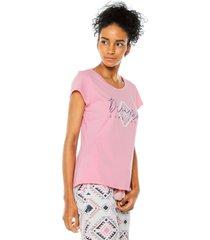 camiseta bronzini éxito rosa
