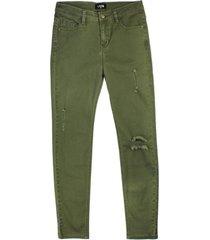jeans roturas handmade memories verde militar  like it
