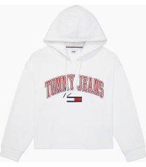 tommy hilfiger women's adaptive tommy hoodie bright white - xxl