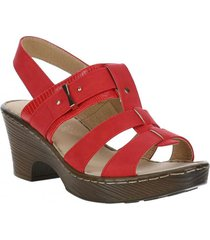 sandalia mujer iago rojo azaleia