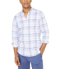 nautica men's big & tall navtech performance stretch plaid shirt