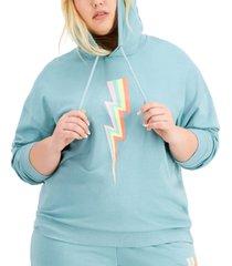 full circle trends trendy plus size lightning hoodie