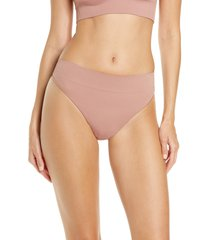 skims stretch rib thong, size 4x in rose clay at nordstrom