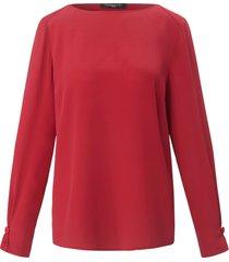 blouse 100% zijde lange mouwen van fadenmeister berlin rood