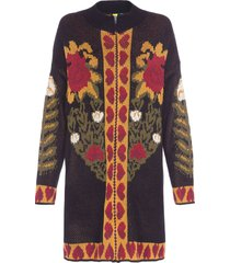 casaco feminino jacquard monique - preto