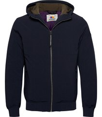 hooded quilted stretch-nylon jacket gevoerd jack blauw scotch & soda