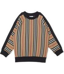 burberry black and beige cotton sweatshirt