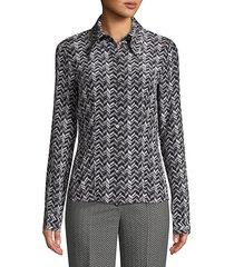 crushed silk button-down shirt
