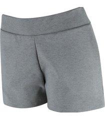 shorts fila letter back - feminina - cinza