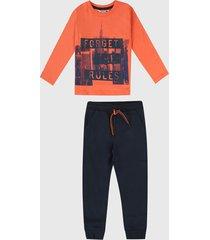 conjunto naranja-azul boboli