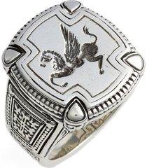 men's konstantino silver classics pegasus ring