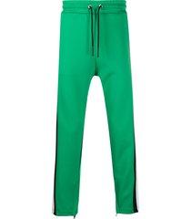 diesel p-copper logo stripe track trousers - green