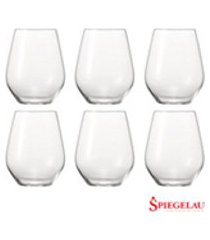 conjunto de copos baixo authentis em vidro cristalino 460 ml com 06 pecas - spiegelau