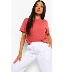 petite basic t-shirt, dusty rose
