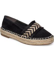 woms slip-on sandaletter expadrilles låga svart tamaris