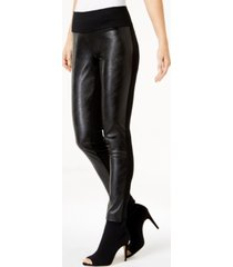 i.n.c. curvy faux leather skinny pants, created for macy's