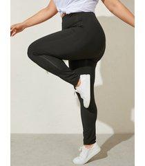 pantalones con tira elástica de talla grande yoins