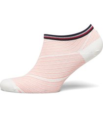 th women sneaker 2p refined bias footies träningssockor/ankle socks rosa tommy hilfiger