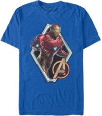 marvel men's avengers endgame iron man diamond portrait, short sleeve t-shirt