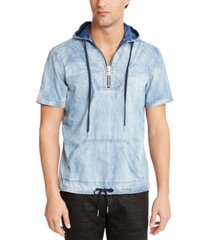 inc men's ansel denim short sleeve hoodie, created for macy's