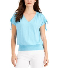 jm collection gathered-sleeve top, created for macy's