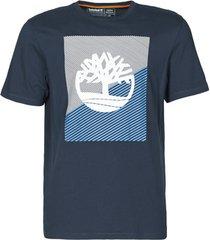 t-shirt korte mouw timberland ss graphic tee contrast tree logo