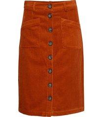 dhpenelope skirt knälång kjol orange denim hunter
