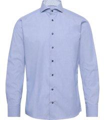 blue hairline striped shirt – navy details overhemd business blauw eton