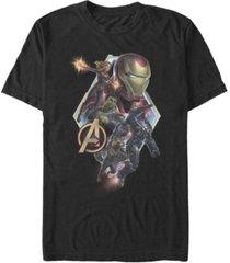 marvel men's avengers endgame diamond group action logo, short sleeve t-shirt