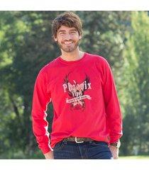 phoenix vinyl tee shirt red