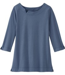 shirt van bio-katoen met kraagbies, rookb 36