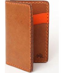 todder hand-stitched vertical pocket wallet