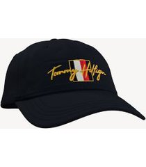 tommy hilfiger men's signature flag cap sky captain -
