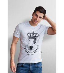 camiseta base nobre king dog t- shirt masculina - masculino