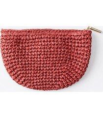 loft straw zip pouch