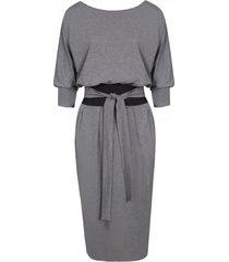 sukienka kimono szara