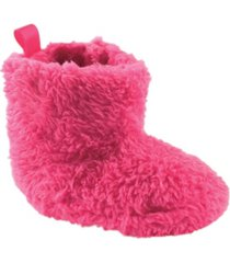 luvable friends sherpa booties, 0-18 months