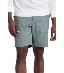 men's faherty all day 9-inch shorts, size 40 - green