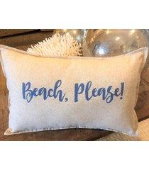 beach please pillow 12 x 18 inch lumbar nautical coastal decor ocean beach sea