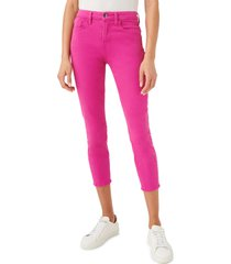 jen7 high waist crop skinny jeans, size 12 in fuchsia at nordstrom